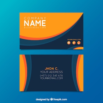 Abstract business card with elegant style