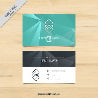 Abstract business card with geometric shapes