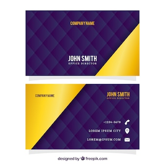 Abstract business card with golden details