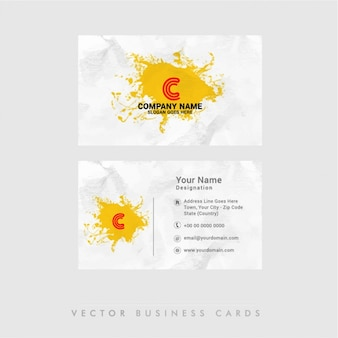 Abstract business card with orange stain