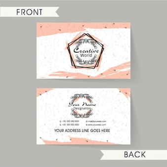 Abstract business card with pink details