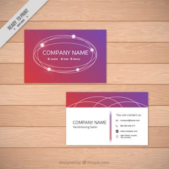 Abstract business card with stars