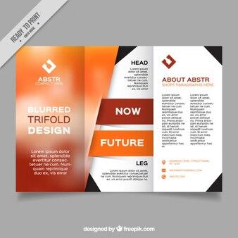 Abstract business flyer in orange tones