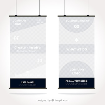 Abstract business roll up in blue tones