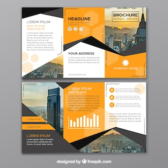 Abstract business trifold
