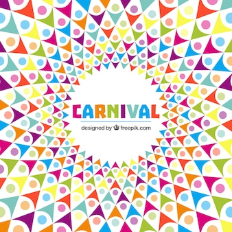 Abstract carnival background in colored style