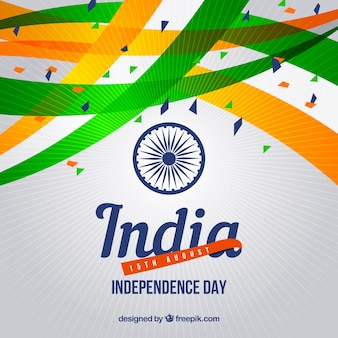 Abstract celebration background of india independence with confetti