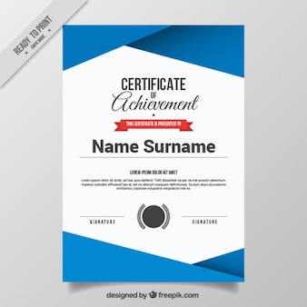 Abstract certificate template
