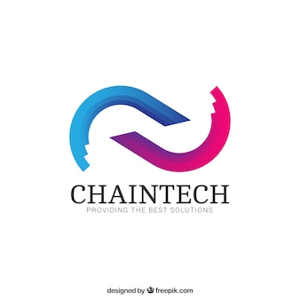 Abstract chain logo
