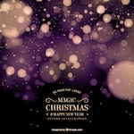 Abstract christmas background with bokeh effect