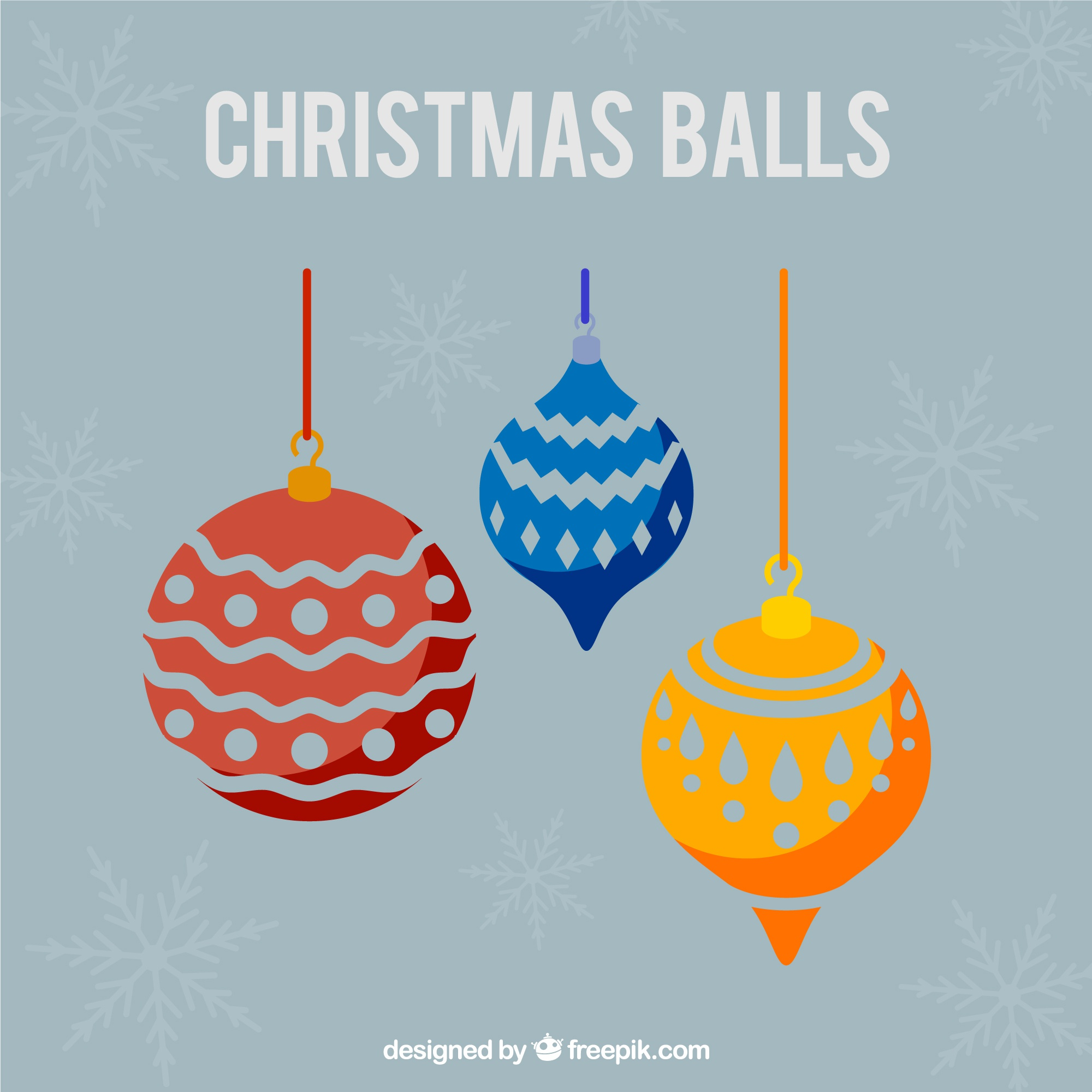 Abstract christmas balls background