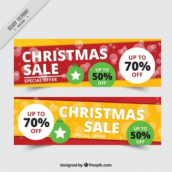 christmas sale banner psd