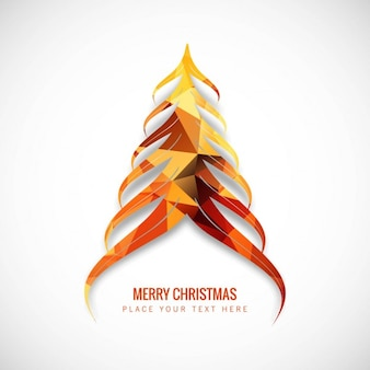 Abstract christmas tree in orange tones