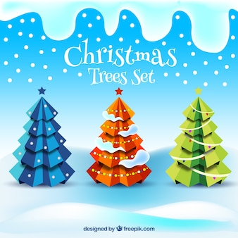 Abstract christmas trees collection