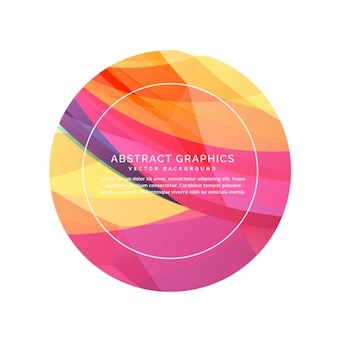 Abstract circle with text template