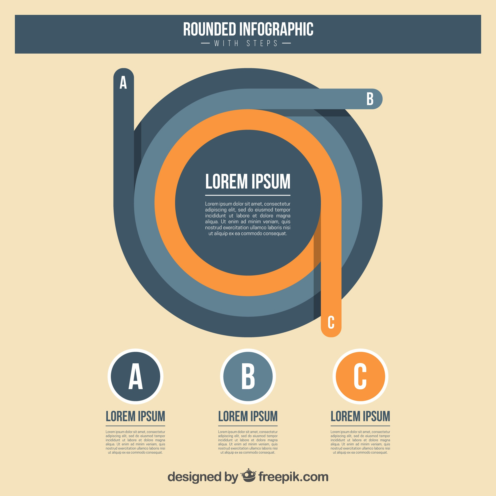 Abstract circular infographic template