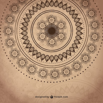 Abstract circular ornaments background