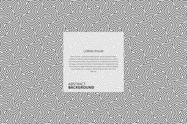 Abstract circular stripes pattern