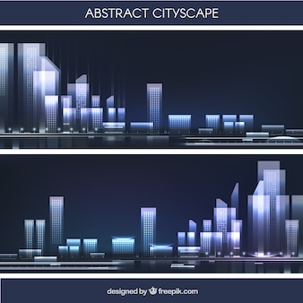 Abstract cityscape in flat design