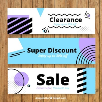 Abstract clearance banners