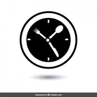 Abstract clock logo