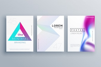 Abstract collection of poster templates