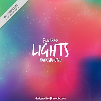 Abstract colored blurred lights background