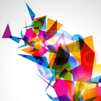 Eps10抽象的なデザインスタイリッシュなカラフルなアートワーク
