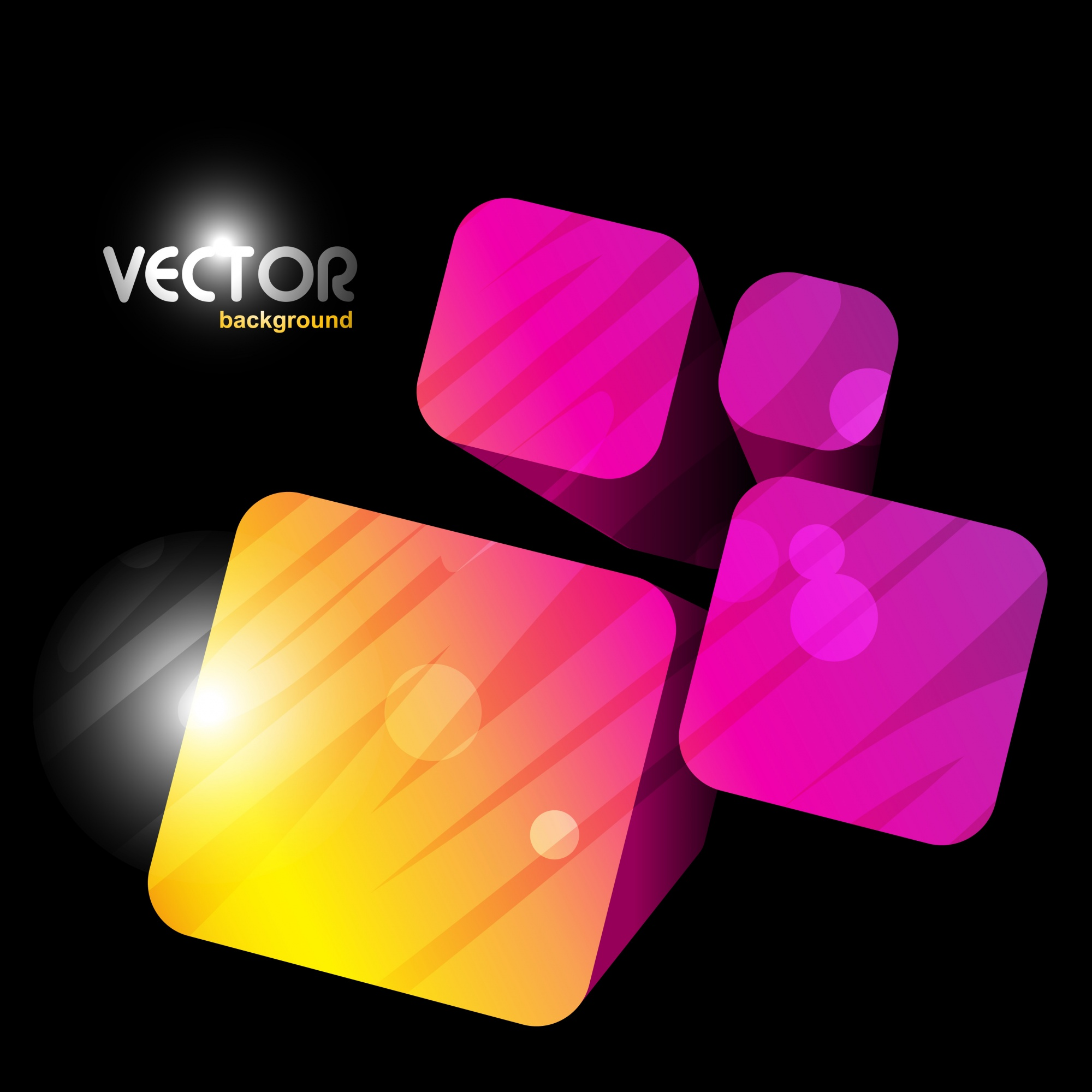 Abstract colorful background with 3d cubes
