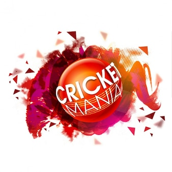 Abstract colorful background with cricket ball