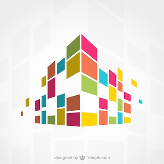 Abstract colorful building