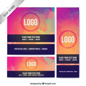 Abstract colorful business stationery