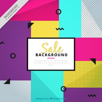 Abstract colorful discount background