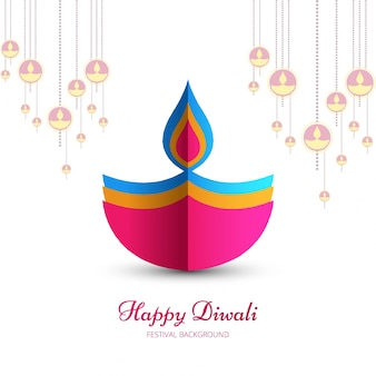 Abstract colorful diwali design