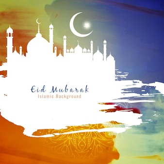 Abstract colorful eid mubarak background design