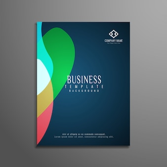 Abstract colorful elegant business brochure design