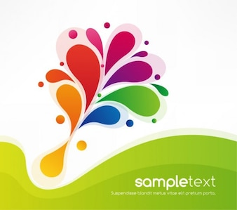 Abstract colorful floral design background