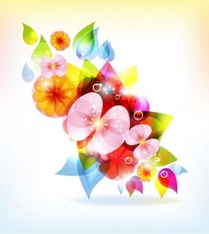 abstract colorful flowers vector background
