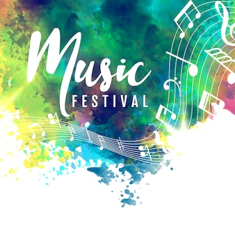 Abstract colorful grunge style musical background