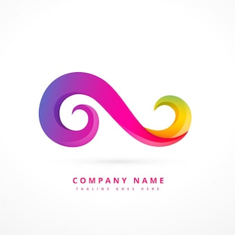 Abstract colorful logo in swirl form