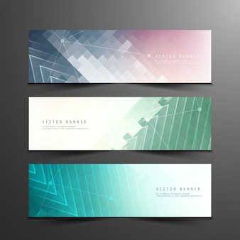 Abstract colorful modern banners