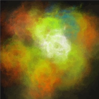 Abstract colorful nebula background