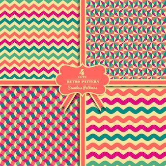 Abstract colorful retro patterns