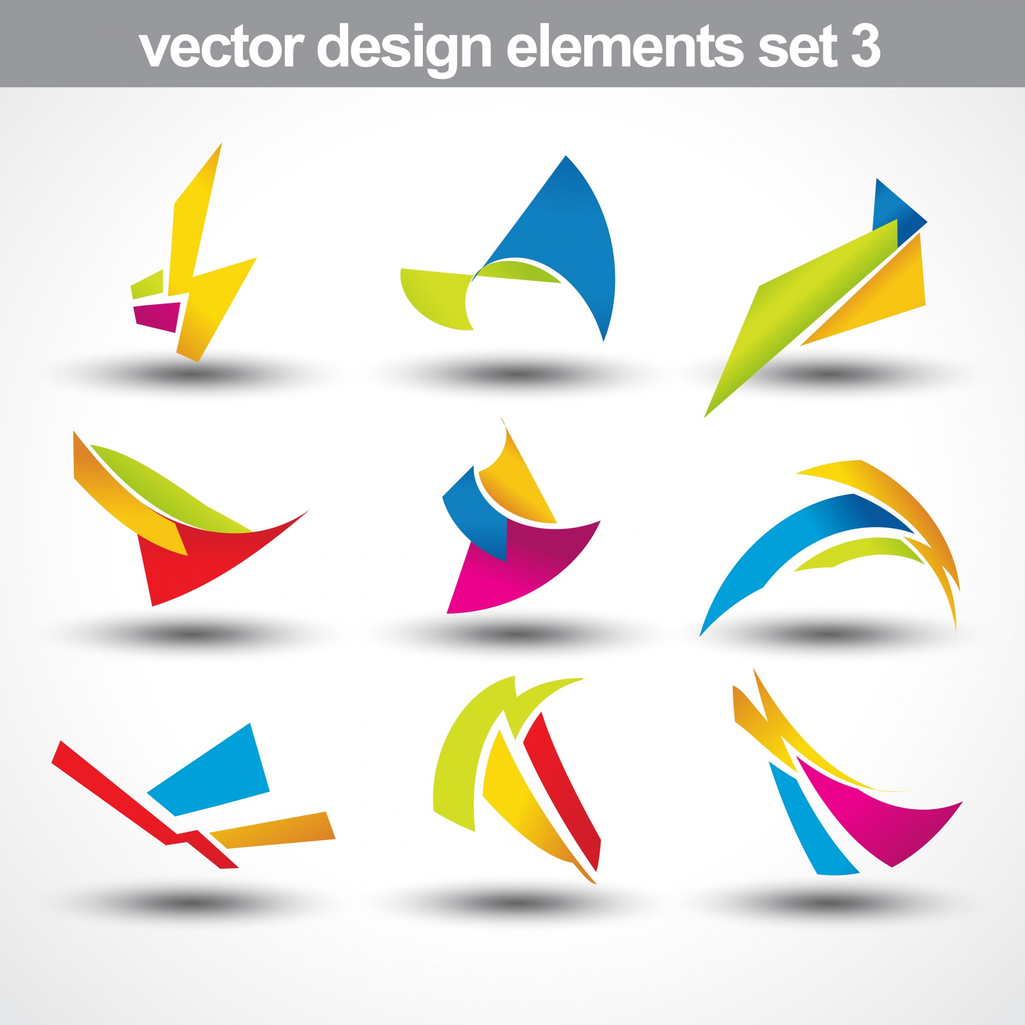 Abstract colorful shapes collection