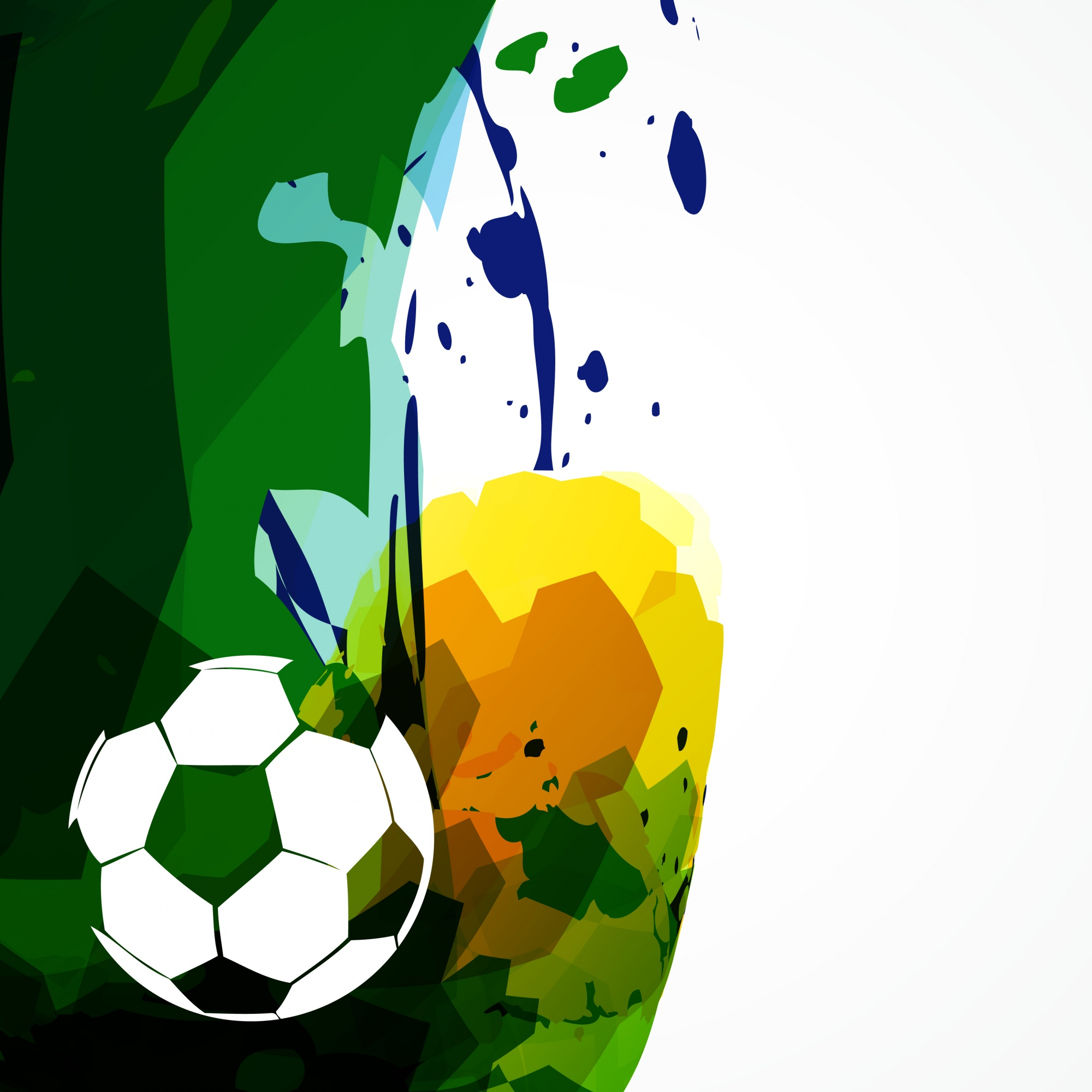 Abstract colorful soccer design