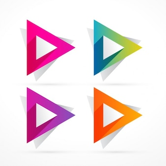 abstract colorful triangle shape
