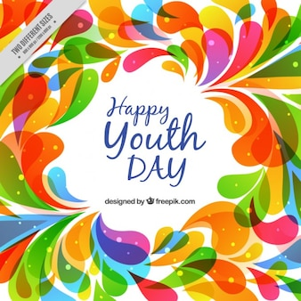 Abstract colorful youth day background