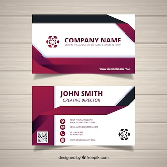 Abstract company card