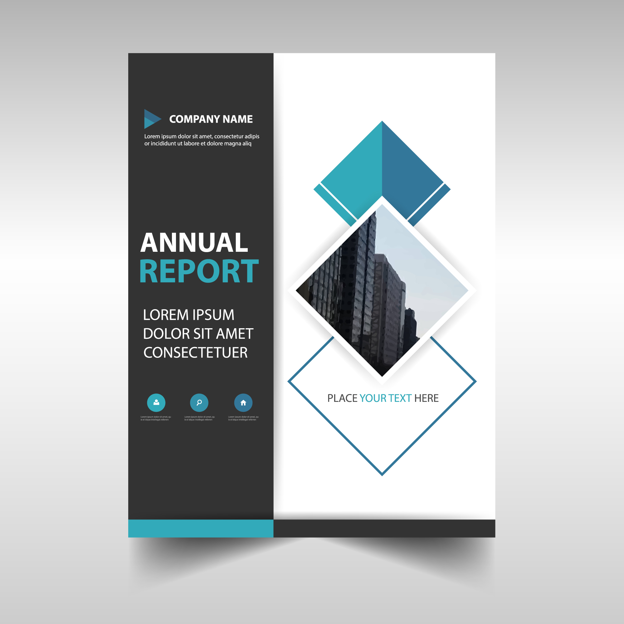 Abstract corporate annual report template