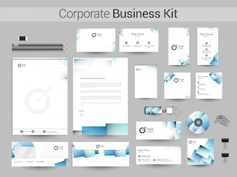 Abstract Corporate Business Identity Kit.
